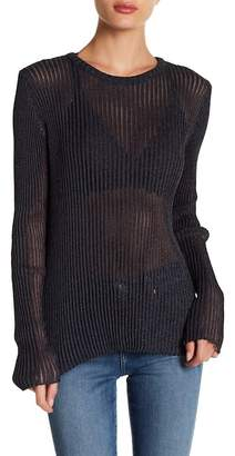 IRO Metallic Ribbed Knit Sweater