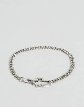 ICON BRAND Hoop Lock Chain Bracelet In Silver