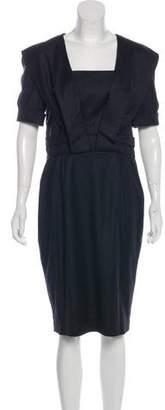 Oscar de la Renta Virgin Wool Dress
