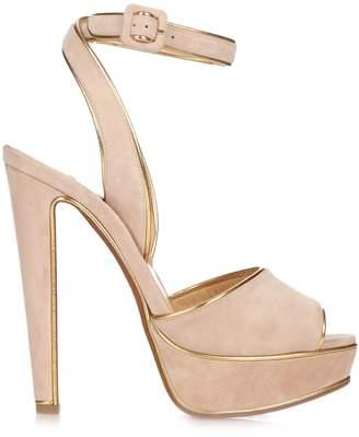CHRISTIAN LOUBOUTIN Louloudance 140mm suede platform sandals $1,095 thestylecure.com
