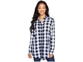 Jag Jeans Petite Petite Magnolia Tunic in Rayon Plaid Women's Blouse