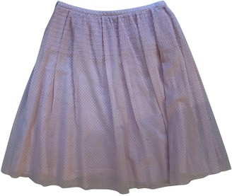 Club Monaco Pink Cotton Skirt for Women