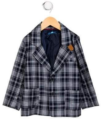 Andy & Evan Boys' Plaid Notch-Lapel Jacket w/ Tags