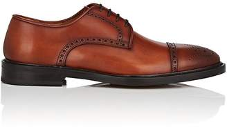 Antonio Maurizi MEN'S CAP-TOE BURNISHED LEATHER BLUCHERS