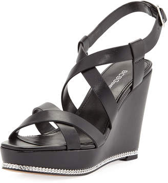 BCBGeneration Janice Strappy Wedge Sandals