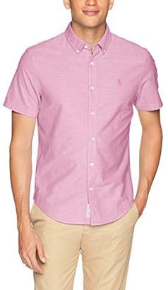 Original Penguin Men's Short Sleeve Core Oxford with Stretch