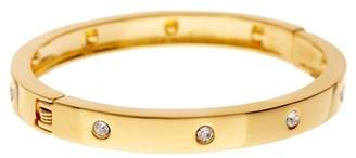 Sterling Forever Classic Station CZ Bangle