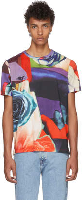 Paul Smith Multicolor All Over Rose T-Shirt
