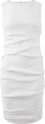 NICOLE MILLER Lauren Stretch Linen Dress $290 thestylecure.com
