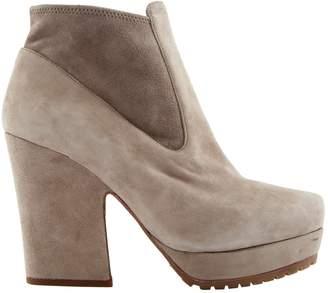 Miu Miu Beige Suede Ankle boots
