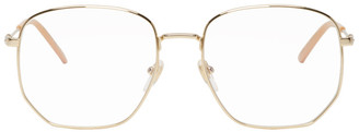 Gucci Gold and Pink Pilot Glasses