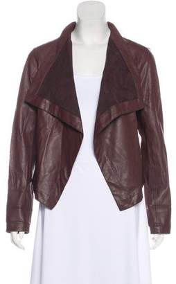 BB Dakota Leather Open Front Jacket