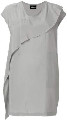 Ilaria Nistri Roque asymmetric ruffle dress