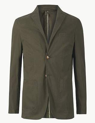 Marks and Spencer Pure Cotton Tailored Fit Jacket