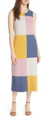 Tory Burch Clayton Sleeveless Merino Wool Midi Dress