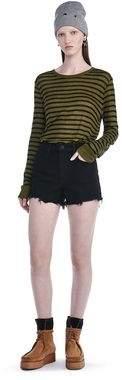 Alexander Wang Stripe Linen Long Sleeve Tee