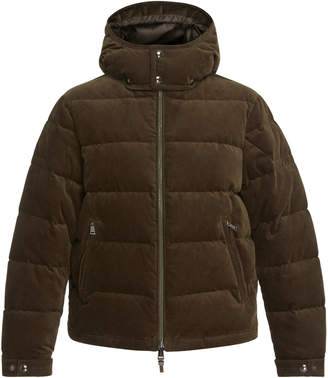 Ralph Lauren Quilted Corduroy Hooded Puffer Jacket