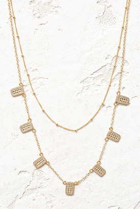 Anna Beck Gold Multi Bar Charm & Delicate Satellite Chain Double Necklace