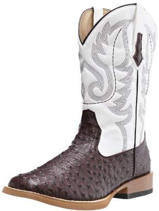 Roper Men's Ostrich Print Square Toe Cowboy Boot 13 D - Medium