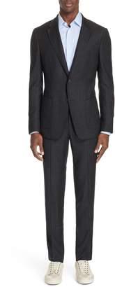 Ermenegildo Zegna Trim Fit Wash & Go Solid Wool Suit