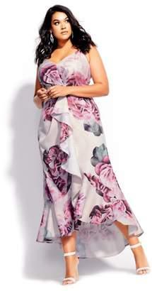 City Chic Citychic Vintage Blossom Maxi Dress - blush
