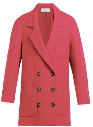 Raey Oversized Brushed Twill Blazer - Womens - Pink