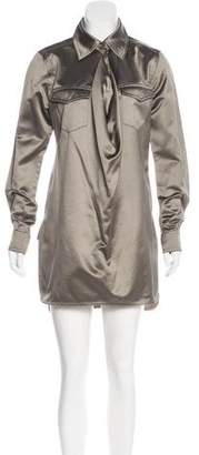 Max Mara Satin Mini Dress