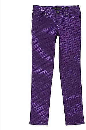 Jessica Simpson Tweenwear 7-16 Daisy Foil Print Skinny Jeans
