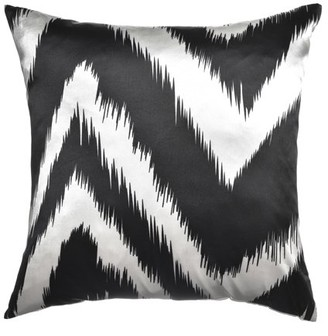 """Softline Flare Black 20"""" x 20"""" Feather Down Decorative Pillow"""