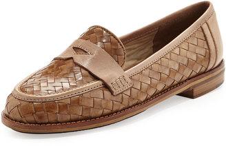 Sesto Meucci Nattie Woven Leather Loafer, Camel $144 thestylecure.com