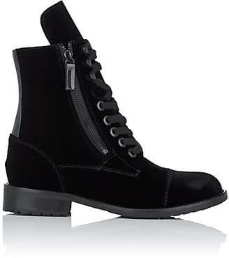 HIRAETH Women's Hanne Cap-Toe Velvet Ankle Boots - Black