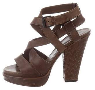 Bottega Veneta Leather Platform Sandals