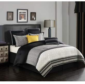 Nanshing GIGI 8-Piece Bedding Comforter Set, Queen