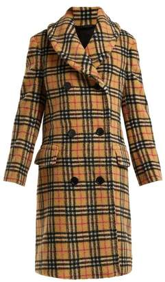 Burberry Hutchinson Vintage Check Fleece Coat - Womens - Beige Multi