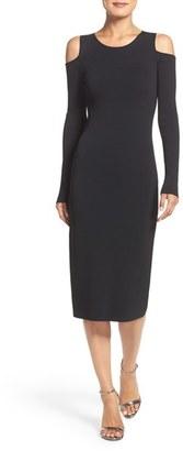 Women's Eliza J Cold Shoulder Knit Body-Con Dress $98 thestylecure.com