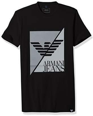 Armani Jeans Men's Plus Size Split Eagle Logo T-Shirt