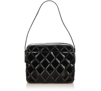 Chanel Vintage Bicolore Matelasse Patent Leather Shoulder Bag