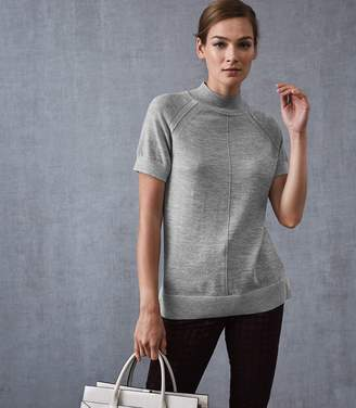 Reiss VENUS METALLIC HIGH NECK TOP Grey