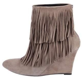 Elyse Walker Fringe Wedge Ankle Boots