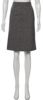 Miu Miu Wool-Blend Pencil Skirt Black Wool-Blend Pencil Skirt