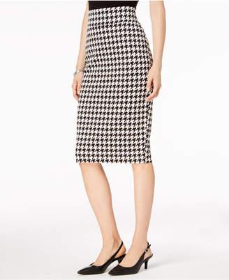 Alfani Petite Houndstooth-Print Skirt, Created for Macy's