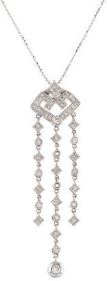 14K Diamond Chandelier Necklace