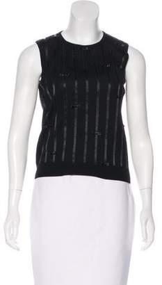Rena Lange Bow-Accented Virgin Wool Top