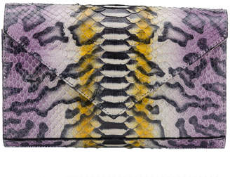 Annie Diamantidis Multi-Color Python Skin Clutch