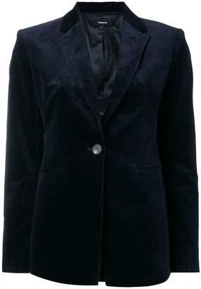 Theory ribbed velvet blazer