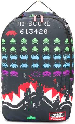 Sprayground space invaders print backpack