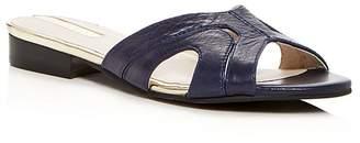 Kenneth Cole Women's Viveca Leather Low Heel Slide Sandals