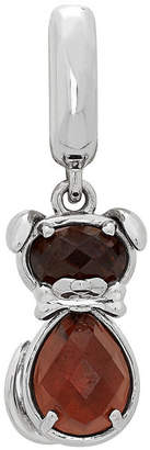 Proenza Schouler FINE JEWELRY Personal Style Simulated Topaz Sterling Silver Dog Charm