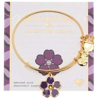 Alex and Ani Charity By Design Forget Me Swarovski Adorned Expandable Bracelet