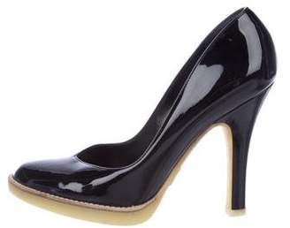 Gucci Patent Leather Almond-Toe Pumps